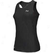 Under Armour Heatgear Fitted Base Racerback - Womens - Black/whtie
