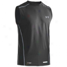 Under Armour Heatgear Fitted Base S/l Crew - Mens - Blacck/charcoal/steel