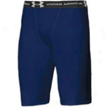 Under Armour Heatgear Long Compression Short - Mens - Midnight Navy