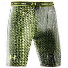 In Armour Heatgear Printed Compression Short - Mens - Black/velocity