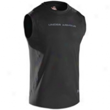 Under Armour Heatgear Touch Fitted S/l Crew - Mens - Black/steel