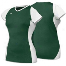 Under Armour Kill Cap Jersey - Womens - Forest/white