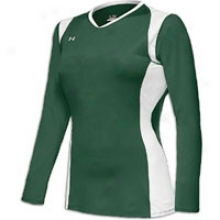 Under Armour Kill L/s Jersey - Womens - Forest/white