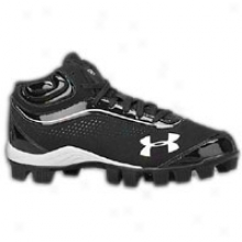 Under Armour Leadoff Iv Mid Jr - Big Kids - Black/white