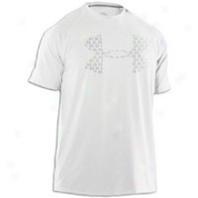 Under Armour Line Logo Big Logo T-shirt - Mens - White