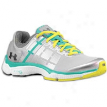 Under Armour Micro G Split Ii - Womens - Silver/jade River/high Vis Yellow/graphite