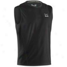 Under Armour Run Heatgear S/l T-shirt - Mens - Black/reflective Silver