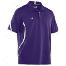 Under Armour Signature On-field S/s Polo - Mens - Purple/ahite/white