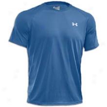 Under Armour S/s Tech T-shirt - Mens - Charter Blue/white
