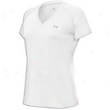 Under Armour Tech S/s T-shirt - Womens - White/silver