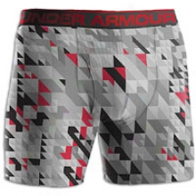 "Under Armour The Original 6"" Boxer Jock Print - Mens - Steel/red"