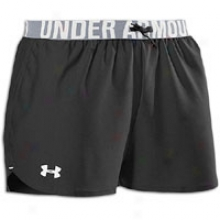 In a state of being liable to Armour The Play Up Short - Womens - Black/white
