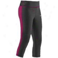 Under Armour W Escape Fitted Capri - Womens - Black/rush/reflective Silver