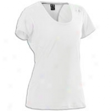 Under Armour Wm Coldblack Run T-shirt - Womens - White/silver
