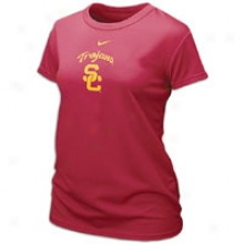 Usc Nike College Dri-fit Logo T-shirt - Womens - Varsity Crimmson
