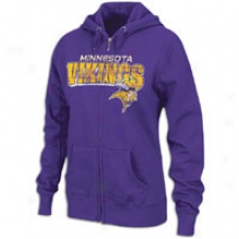 Vikings Nfl Football Greek  Hoodie - Womens - Regal Purple