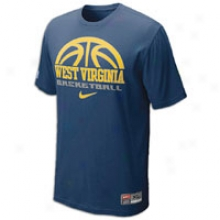 West Virginia Nike College Basketball Practice T-shirt - Mens - Navy