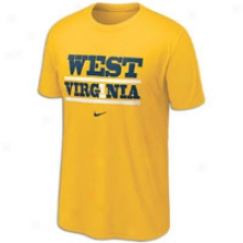 West Virginia Nike College My Schools Local T-shirt - Mens - Gold