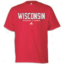 Wisconsin Adidas College Impossible Is Nothing T-shirt - Mens - Red