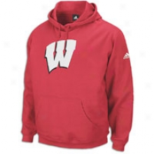 Wisconisn Adidas College Playbook Clip Hoodie - Mens - University Red