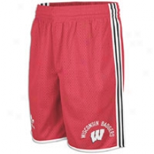 Wisconsin Adidas Originals Btc2 Short - Mens - Red