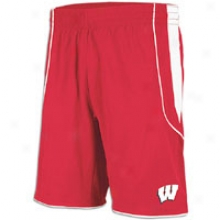 Wisconsin Adidas Autograph copy Baskstbal Short - Mens - Red