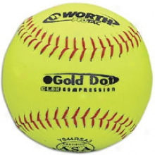 Worth Gold Point Asa Protac Softball - Yellow