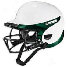 Worth Liberty Batting Helmet/mask Combo - Womens - White/dark Flourishing