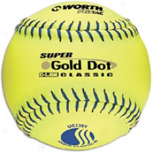 Worth S8per Gold Dot Pro Tac Softball - Mens - Yellow
