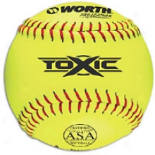 Worth T12aly Toxic Pro Leather Softball - Mens - Yellow