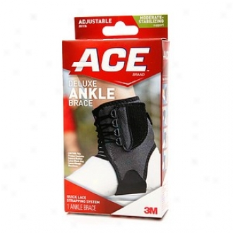 Ace Deluxe Ankle Brace, Model 20736, One Size Adjustable