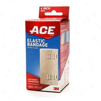 Ace Elastic Fillet With Clips, Model 207313, 4 Inches