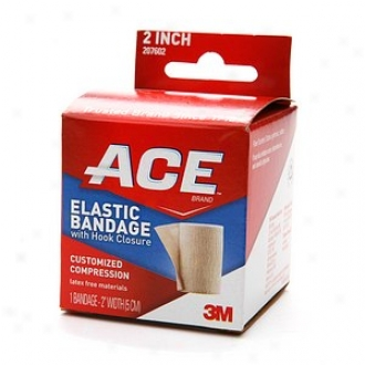 Ace Elastic Bandage With Hook Closure, Model 207602, 2 Inches