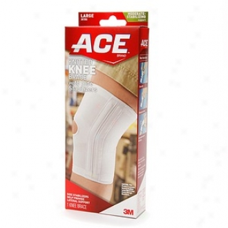 Ace Knitted Knee Brace With Side Stabiluzers, Model 207355, Large