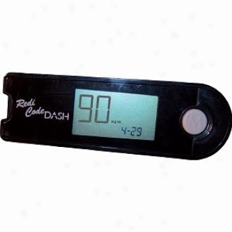 Advocate Redi-code Dash Movable Blood Glucose Meter, Jet Black, Jet Black
