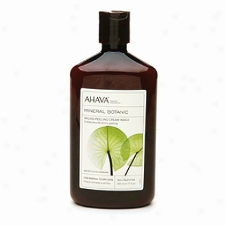 Ahava Mineral Botanic Micro Peelimg Cream Wash, Water Lily & Guarana - Normal To Drg Skin