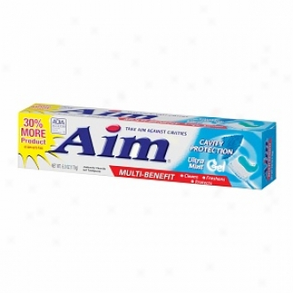 Aim Anticavity Toothpaste Gel, Multi-benefit Cavity Protection, Ultra Mint