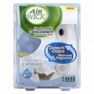 Air Wick Freshmatic Odor Detect Ultra Automatic Twig, Starter Kit, Cool Liben & White Lilac