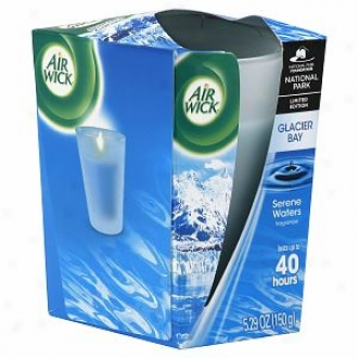Air Wick Limited Edition National Park Series Frosted Taper, Glacier Bay Serene Waters