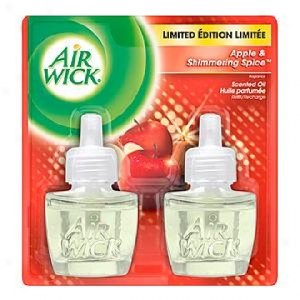 Air Wick Scented Oil Twin Refill, Apple & Shimmering Spice