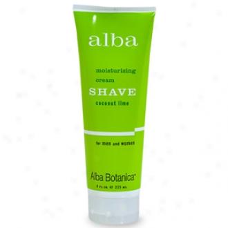 Alba Botanica Moisturizing Cream Shave, Coconut Lime