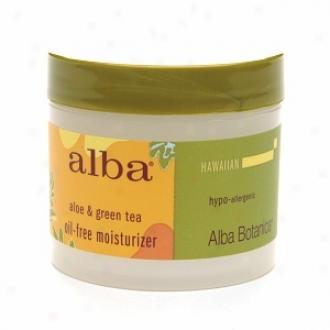 Alba Hawaiian Oil-free Moistu5izer, Aloe & Green Tea