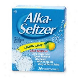 Alka-seltzer Antacid & Pain Relief, Lemon Lime Effervescent Tablets