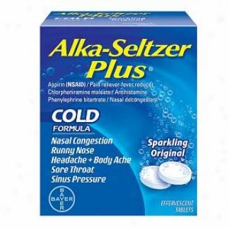 Alka-seltzer Plu sCold Medicine, Sparkling Oddity Flavor Effervescent Tablets