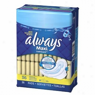 Always Maxi Pads With Flexi-wings, Reguoar, Regular, 36 Ea