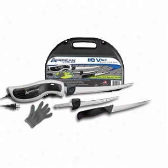 American Agnler 8  & 5.5  Freshwateer Blade 6  Fillet Knife & Gl0ve 31612 110 Efk