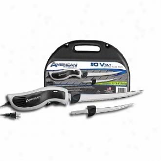 American Angler Electric Band Knife Kit 110v 8  & 5.5  Freshwater Blades 31611