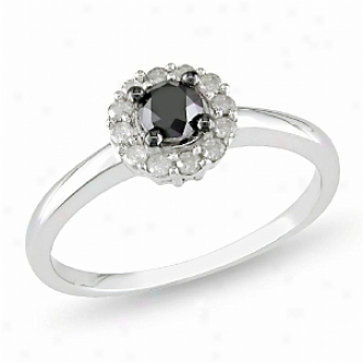 Affair of gallantry 1/2 Ct Black And White Diamonf Tw Plighting Sound Sipver I3, 5