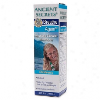 Amcient Secrets Breathe Again Hypertonic Seawater Nasal Spray, Children's