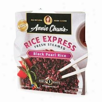 Annie Chun's All Natural Asian Cuisine, Rice Express Fresh S5eamed, Black Pearl